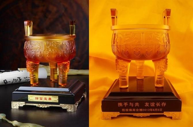 琉璃工艺品展示